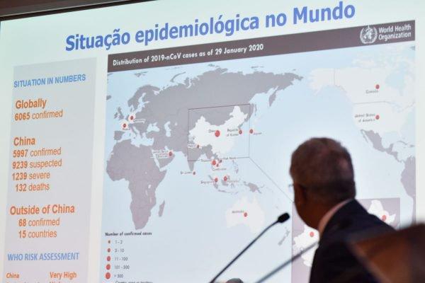 Painel com dados divuldados pelo Ministério da Saúde atualiza os dados da situação epidemiológica do Coronavírus no Brasil