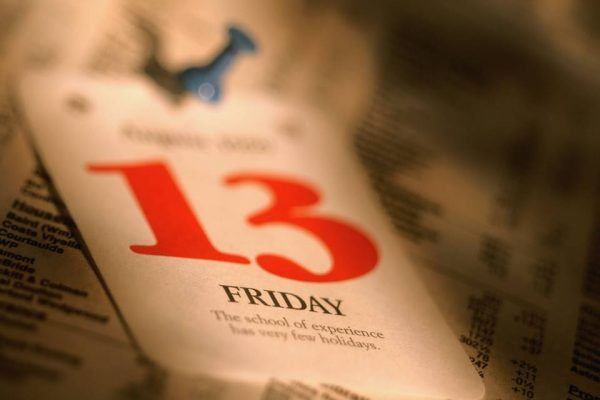 Calendário sexta-feira 13