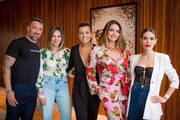 André Monjardim, Fabiana Ortega, Margot Albuquerque, Isabella Carpaneda e Anna Carolina Noronha