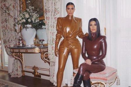 Kim e Kourtney Kardashian usando Balmain