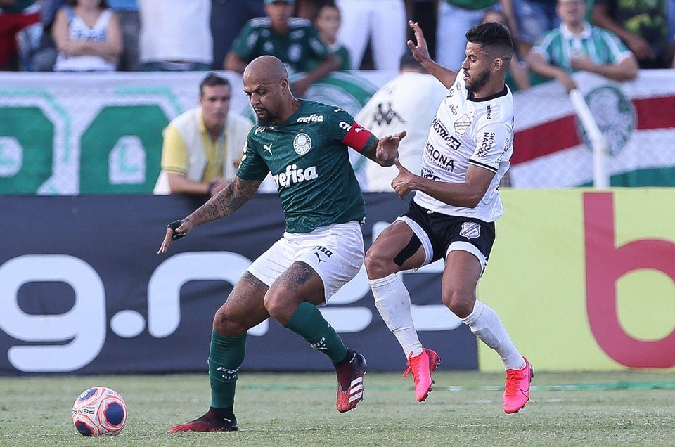 Felipe Melo, do Palmeiras, no Campeonato Paulista