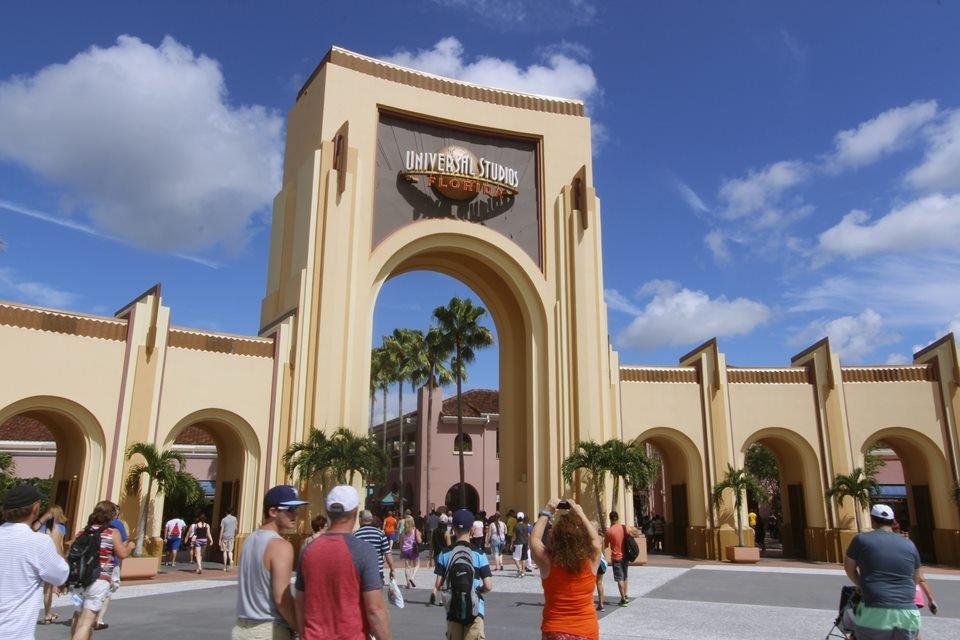 Entrada da Universal Studios, na Flórida