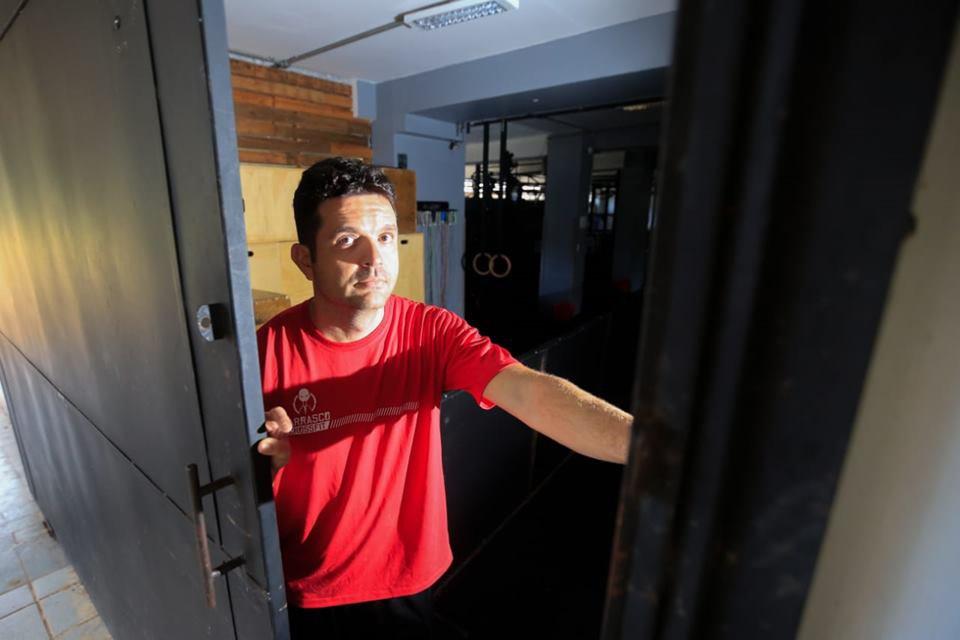 Rodrigo Basílio, dono da Carrasco Crossfit, na 205 Norte: coronavírus