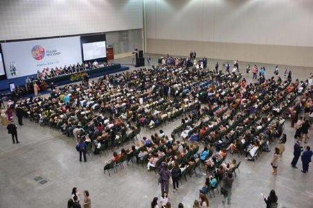 Auditório da Conferência Nacional da Mulher Advogada, em Fortaleza (CE)