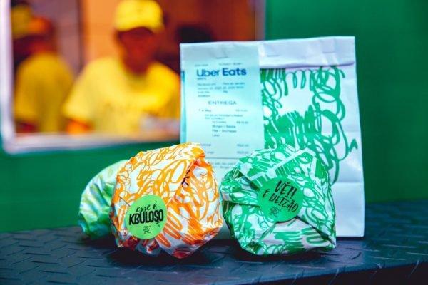 Pacote de delivery de hambúrguer, Tá Doido Burger