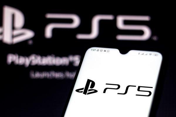 Ilustração da logo do novo playstation 5