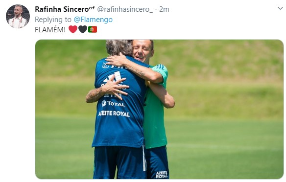 Tweet de torcedor do Flamengo