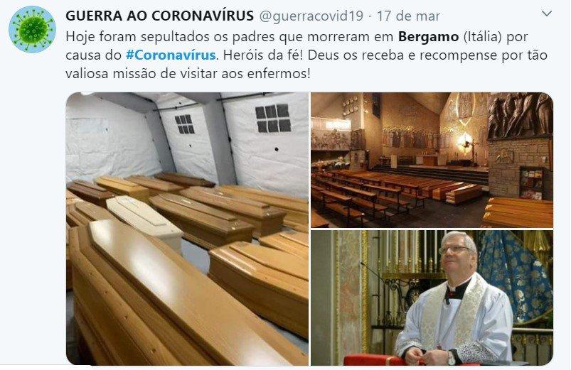 caixões nas igrejas