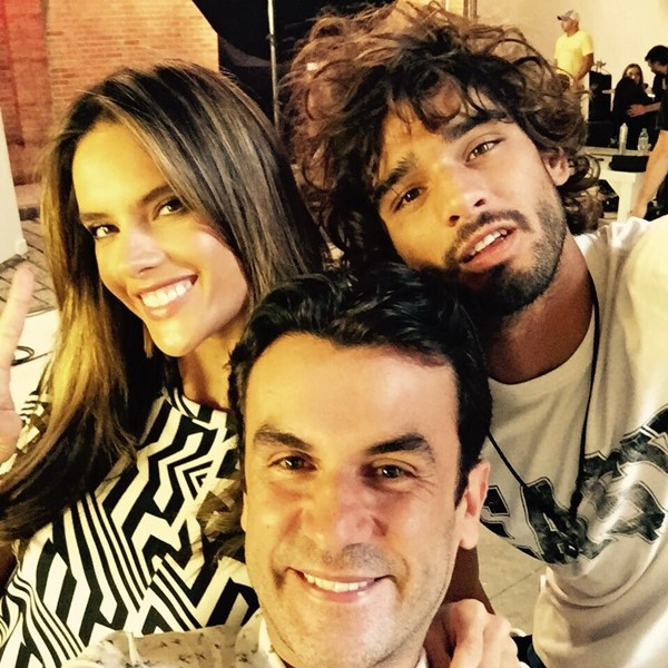 Alessandra Ambrosio with Anderson Baumgartner and Marlon Teixeira