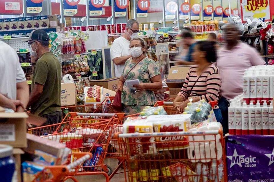 Supermercado durante crise