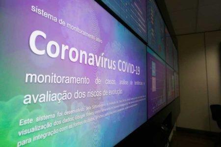 Sistema do centro de monitoramento do coronavírus no GDF