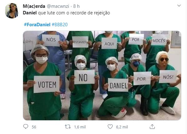 Meme para a eliminação de Daniel