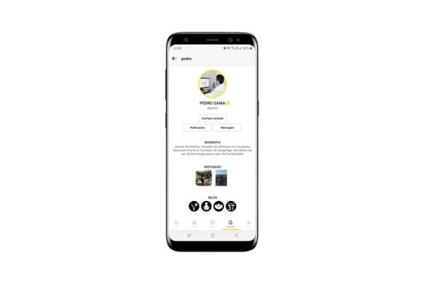 Mockup de aplicativo SanghApp
