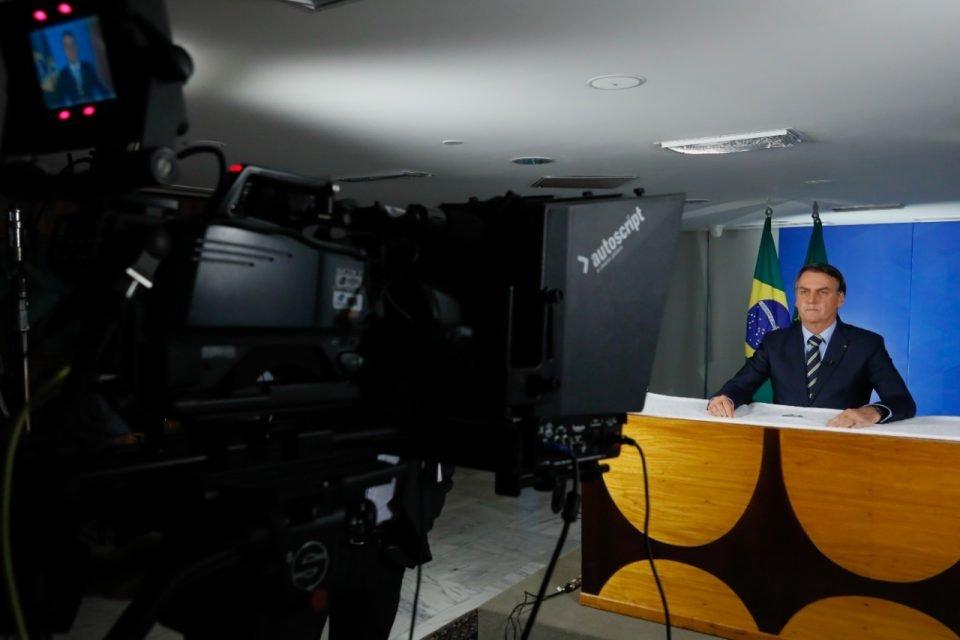 Presidente Jair Bolsonaro em pronunciamento oficial