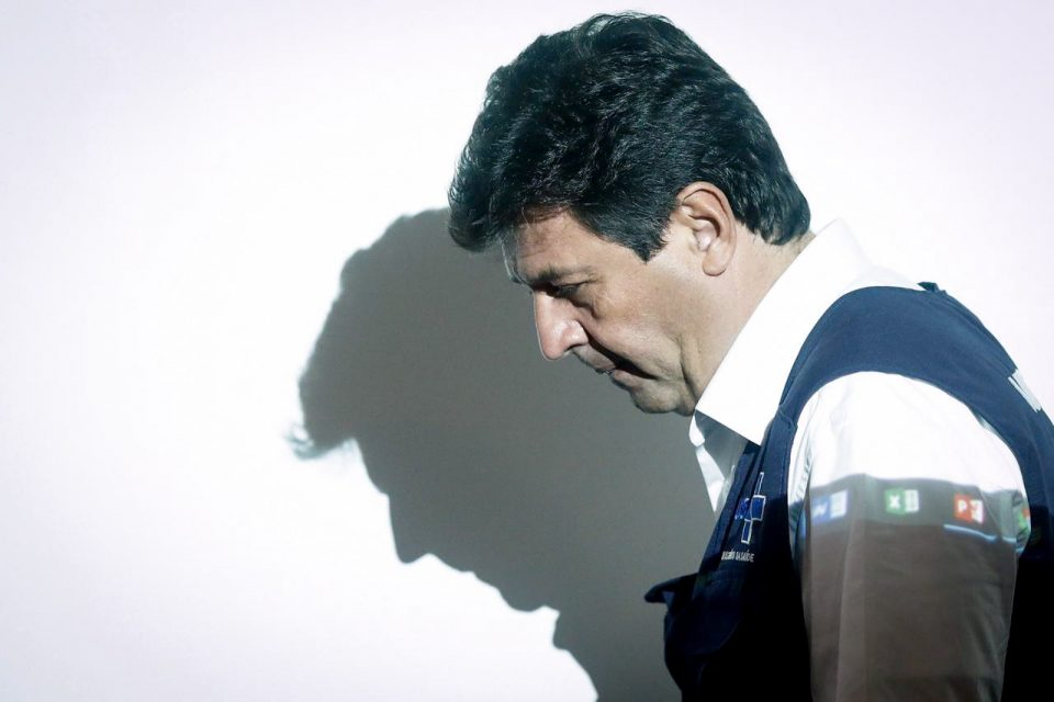 Ministro da Saúde, Luiz Henrique Mandetta, na coletiva diária sobre coronavírus