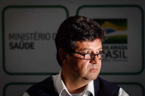O ministro Luiz Henrique Mandetta durante coletiva sobre CoronaVirus Covid-19