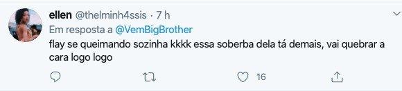 internauta reclama de fly bbb no twitter
