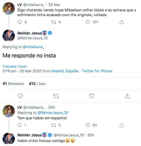 Reinier no Twitter