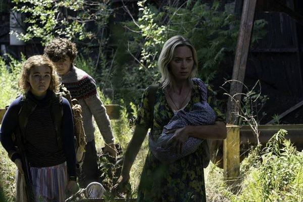 Emiliy Blunt e elenco em Um Lugar Silencioso: Parte II