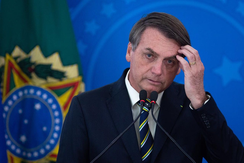 Presidente Jair Bolsonaro em coletiva