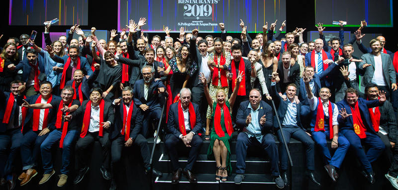 Chefs e profissionais da gastronomia reunidos noThe World´s 50 Best Restaurants 2019