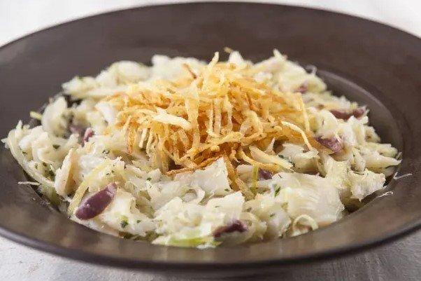 salada de bacalhau paladar