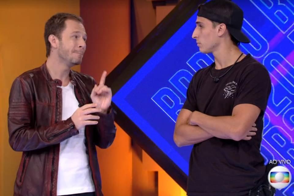Tiago Leifert e Felipe Prior