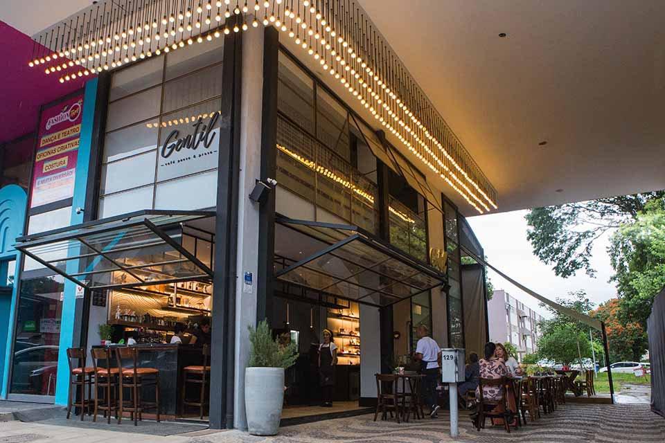 Fachada do Gentil Cafe