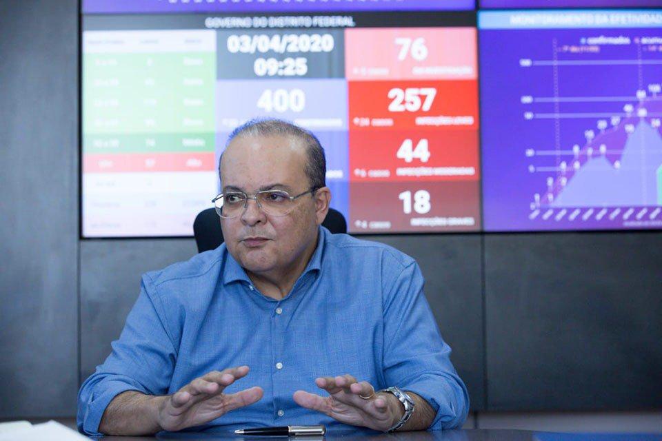 O governador Ibaneis Rocha (MDB) disse que a crise provocada pelo novo coronavírus não gera risco aos salários dos servidores, mas prejudica negociações sobre reajuste