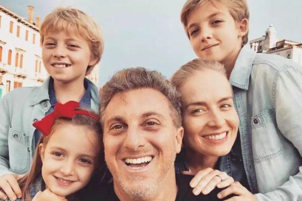Angélica, Luciano Huck e filhos