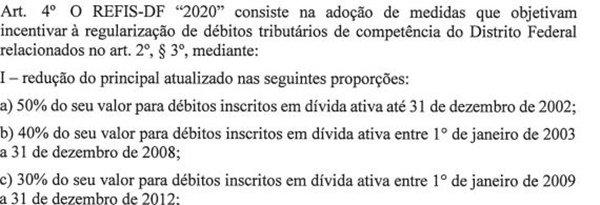 Ibaneis envia à CLDF projeto para Refis-DF 2020