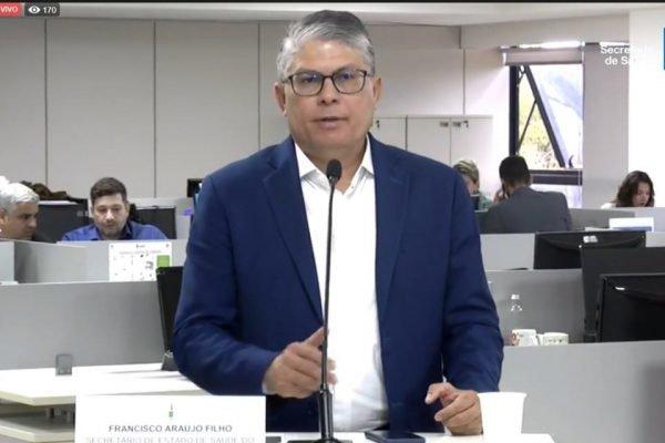 Francisco Araújo, secretário de Saúde do DF, em coletiva on-line