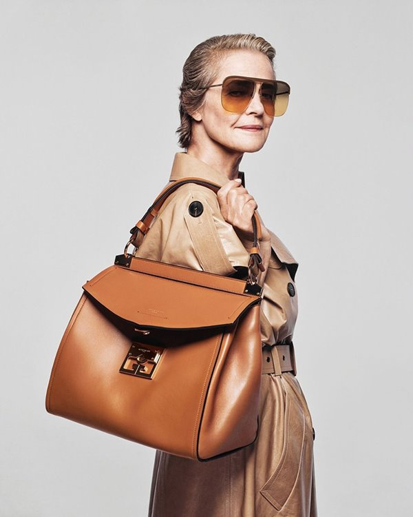 Charlotte Rampling in the campaign for the year 2020 is in the Givenchy