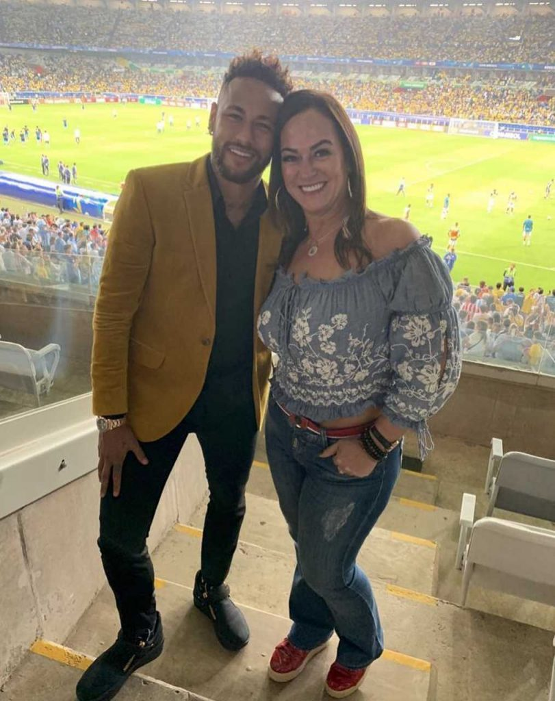 Nadine Golçanves e Neymar