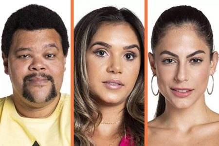 Paredão do BBB20 com Babu Santana, Gizelly e Mari Gonzalez
