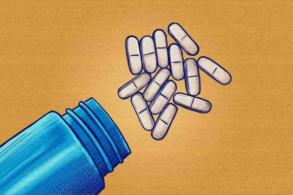ilustração comprimidos
