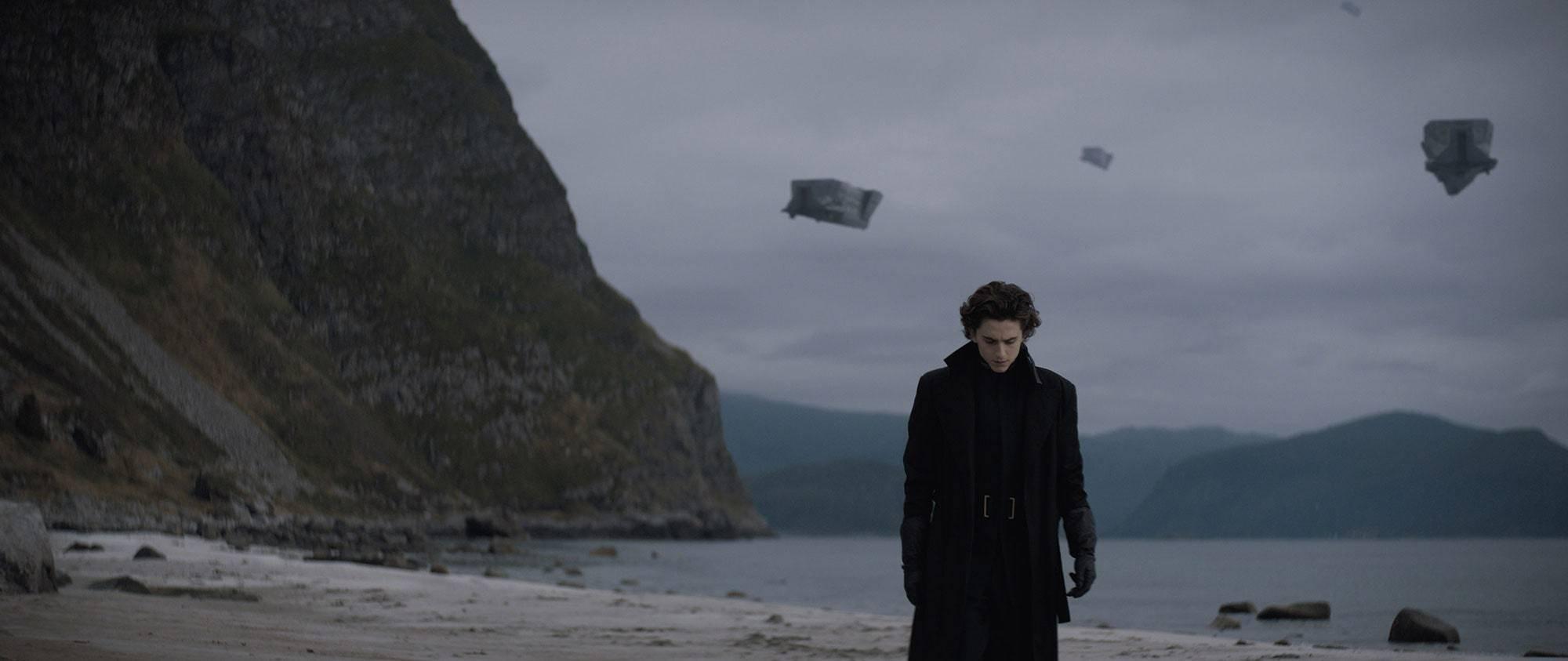 Timothée Chalamet in the first frame of the Dune, filmede: Denis Villeneuve