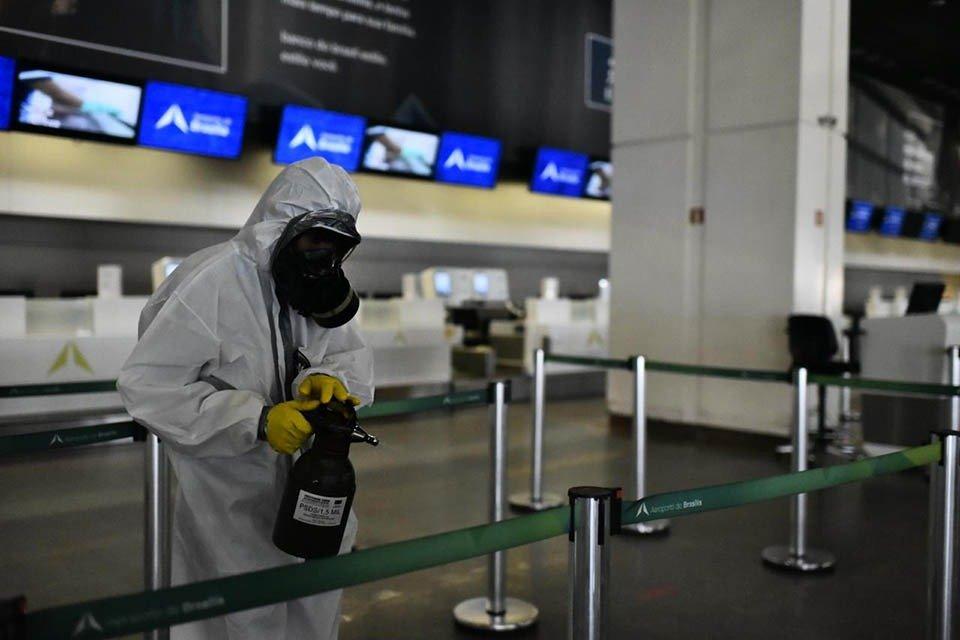 Desinfecção Aeroporto Internacional de Brasília