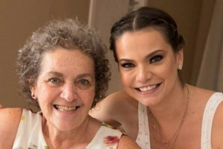 Milena Toscano e a mãe