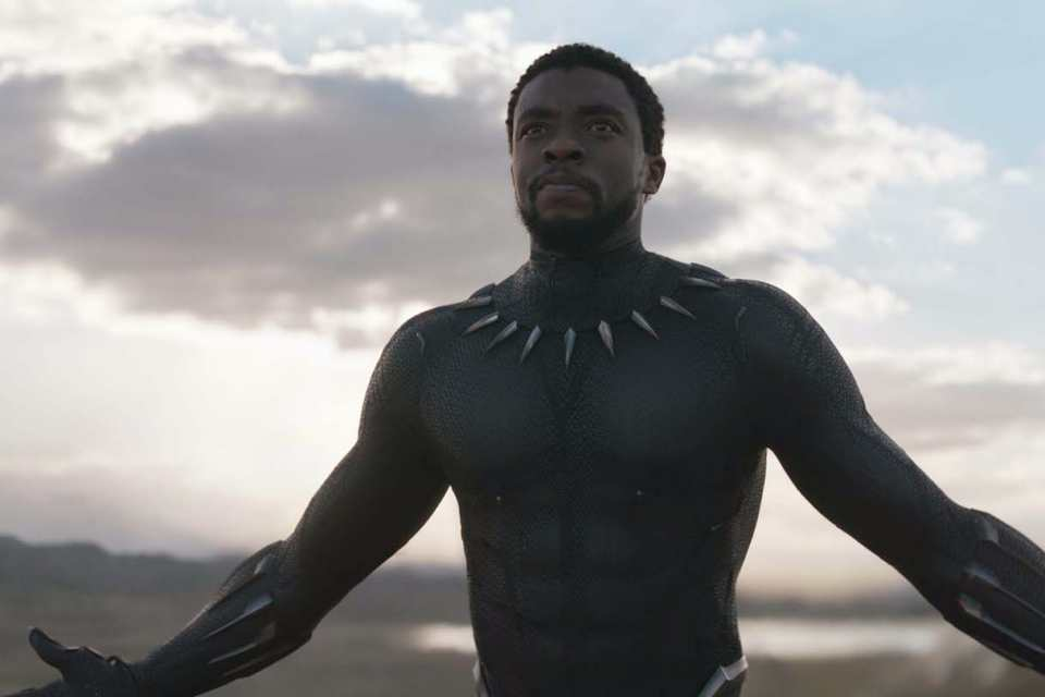 Chadwick Boseman in a scene from the black panther