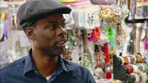 A scene from the documentary Good Hair, which is available at Amazon.