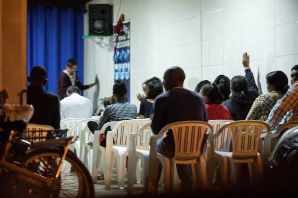 Fieis frequentam as igrejas em fase de isolamento social. Brasília(DF), 16/04/2020
