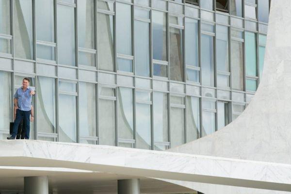 Bolsonaro no Palácio do Planalto no final de seman