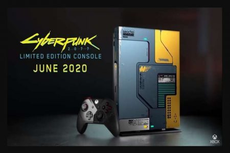 xbox com tema do jogo cyberpunk 77