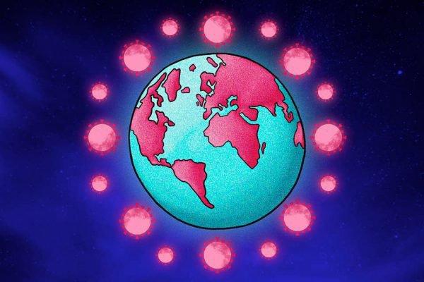 Coronavírus mundo ilustração