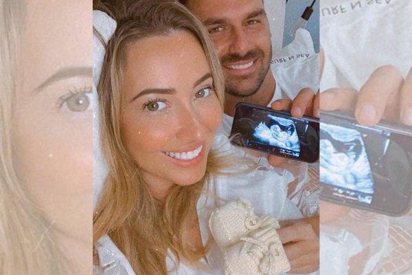 No Instagram, Eduardo Bolsonaro e a esposa, Helóisa, anunciam bebê
