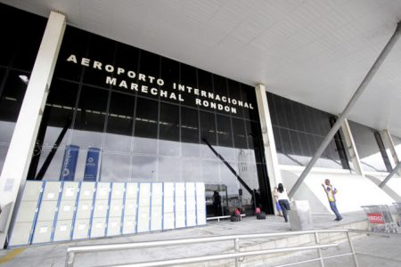 Aeroporto de Cuiabá, onde o ex-ministro Baliro Maggi fez pouso forçado