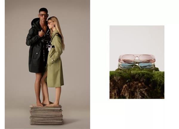 Modelos posando para campanha da coleção ReBurberry Edit