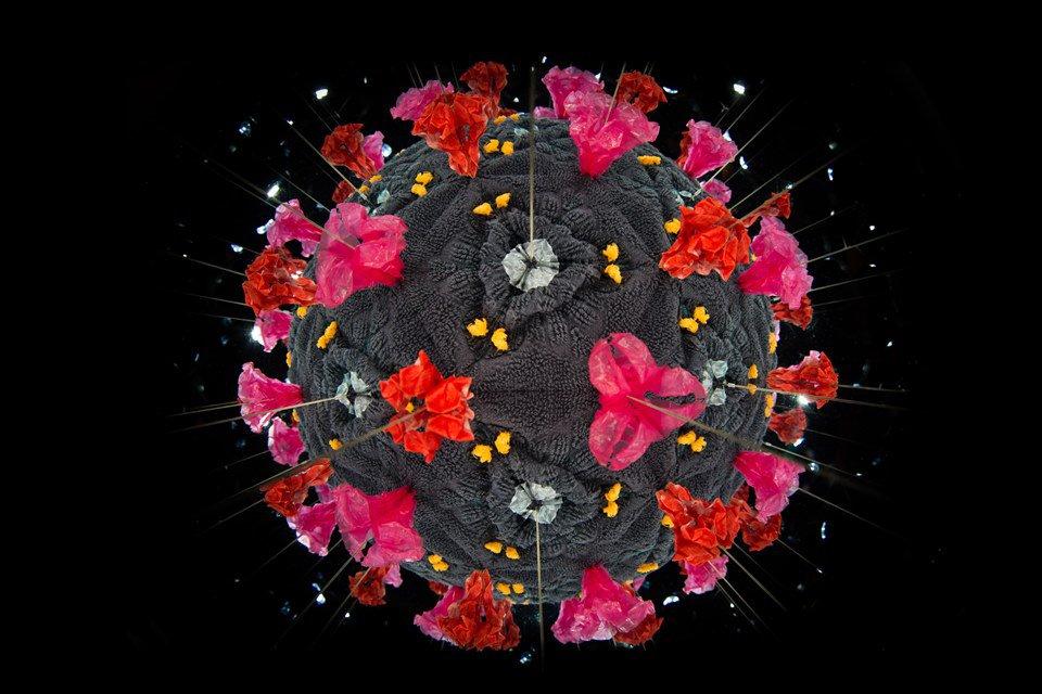 ilustração de um coronavírus