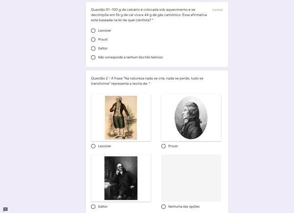Imagens da plataforma digital da Secretaria de Educação